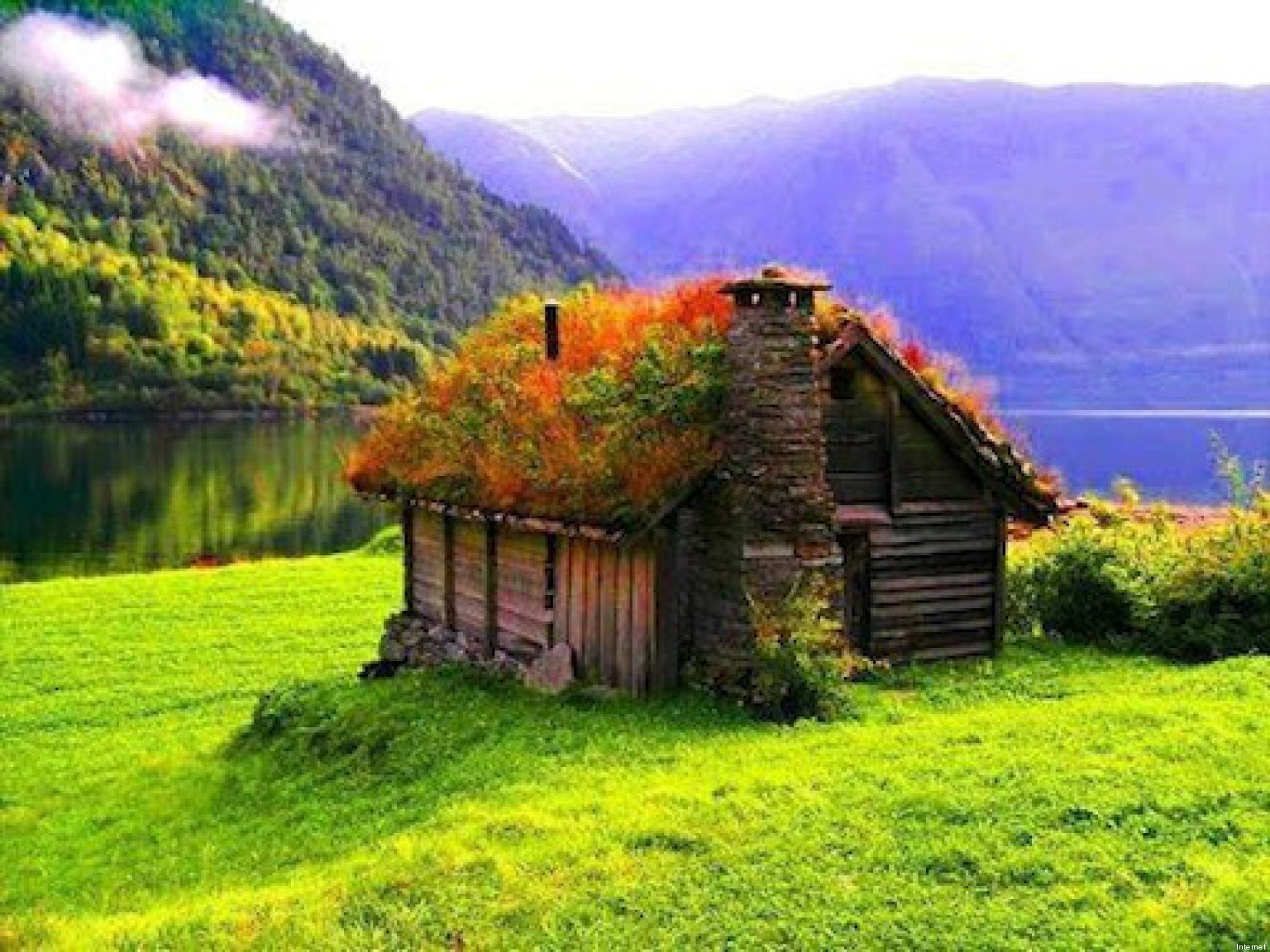 Cottage Norway 1536 1152 High Definition Wallpaper