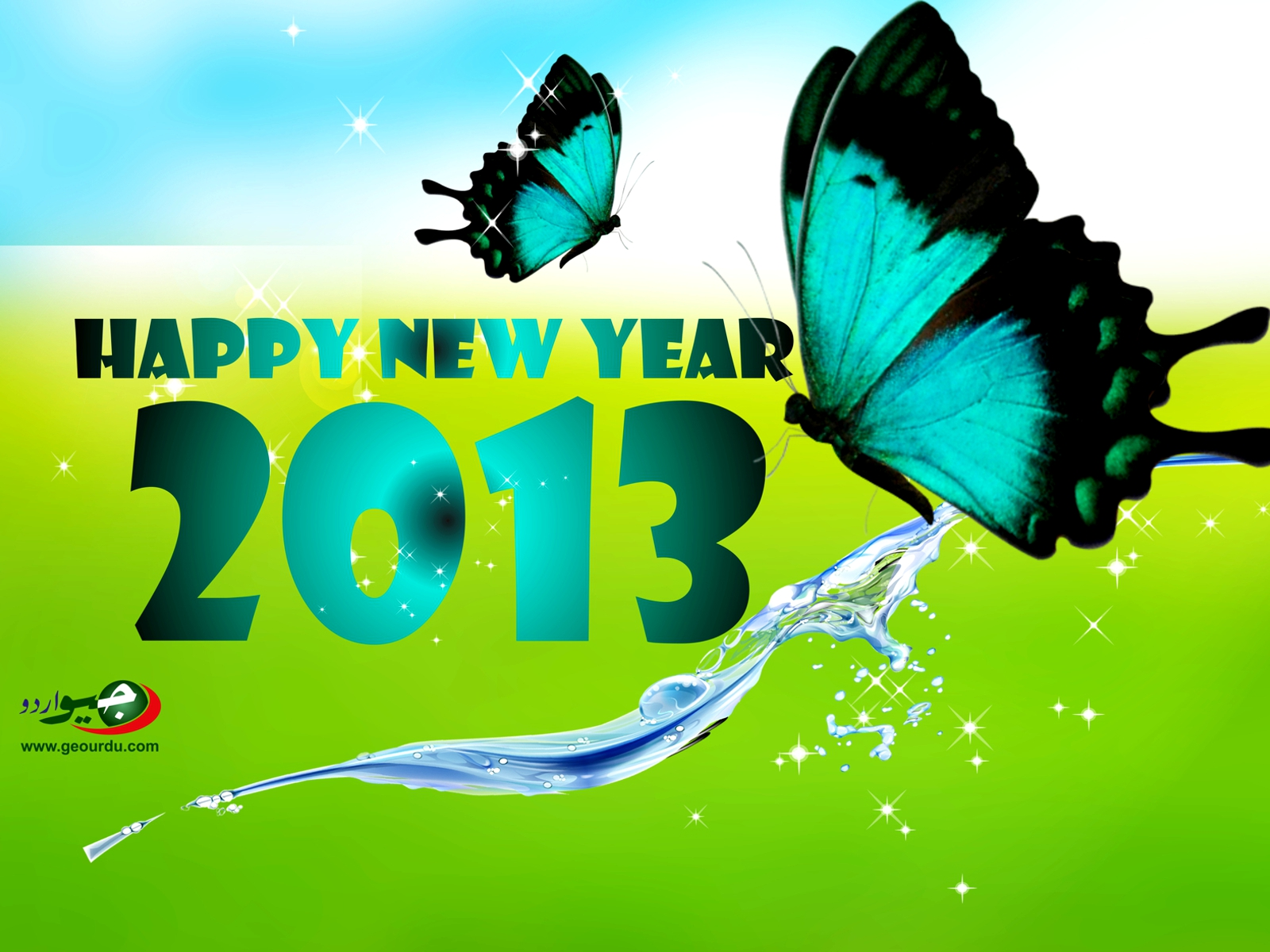 Happy New Year 2013 Wallpaper Wide 1600×1200