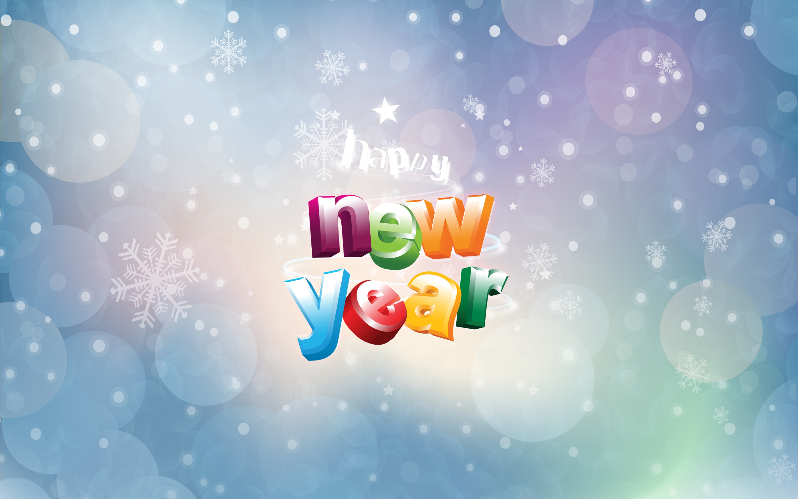Happy New Year Widescreen Wallpaper 2560×1600