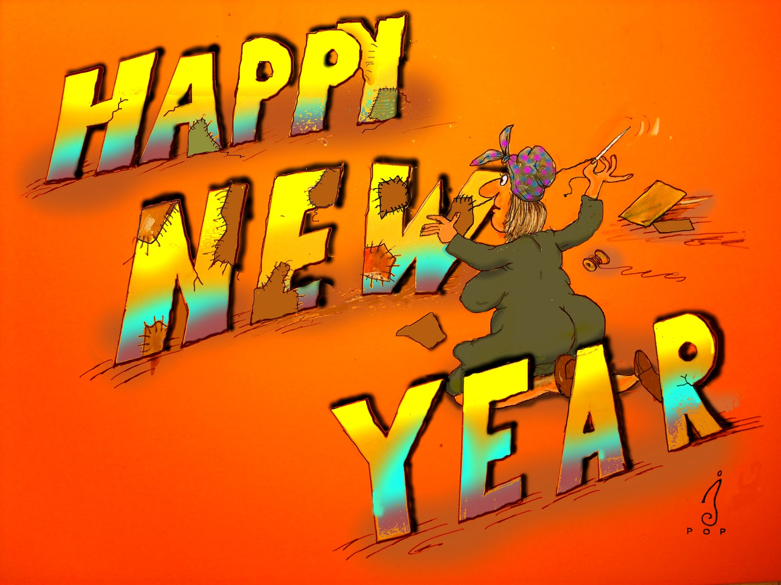 Happy New Year Widescreen Wallpaper 1600×1200