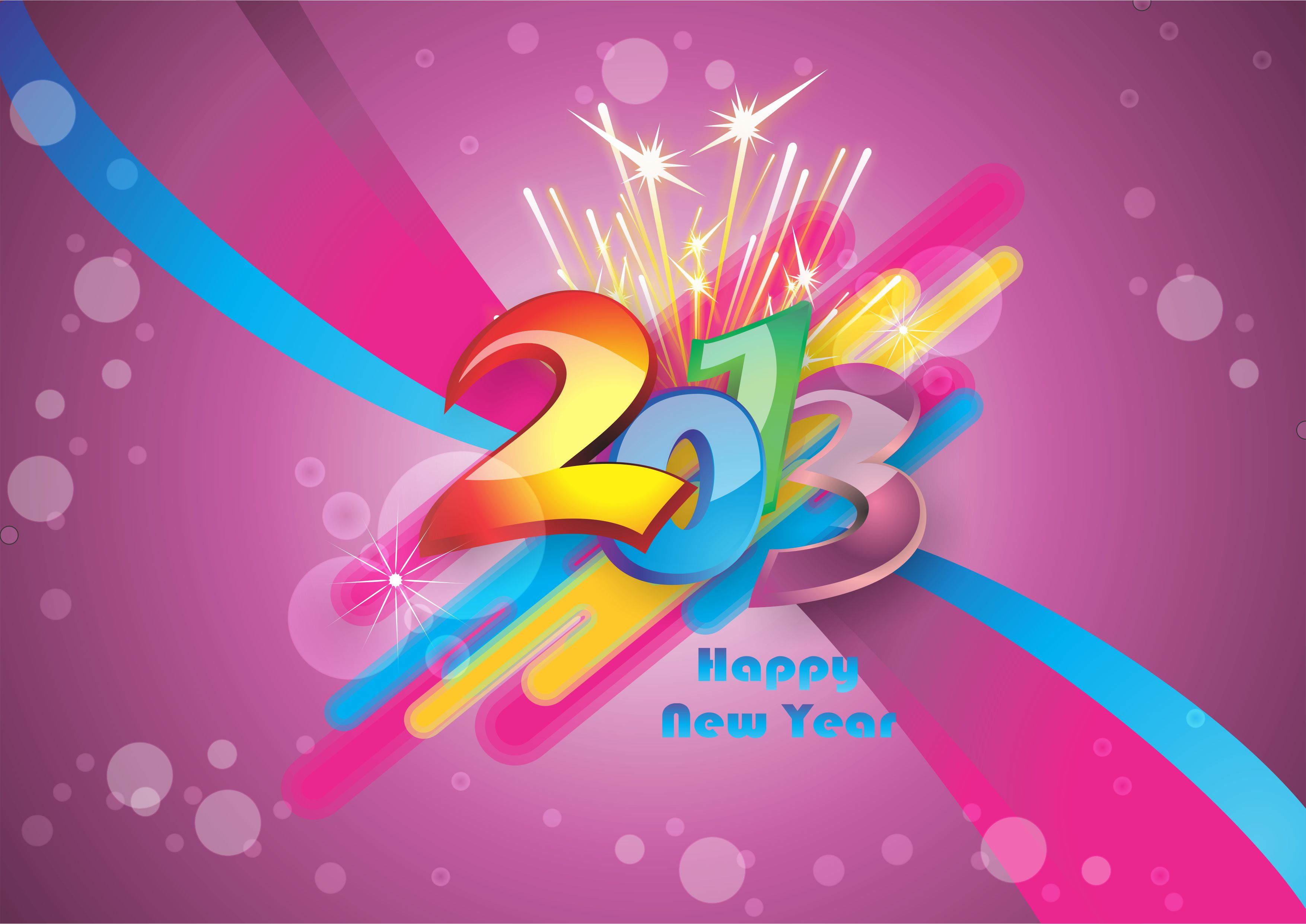 New Year 2013 Wallpaper 3508×2482